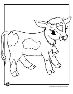 36 best cow coloring book images