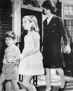 "youngfirstlady: "" Mrs. Kennedy, who has said ""the greatest responsibility in life is your children,"" is shown here in May, 1965, with son John, almost 5, and daughter Caroline, nearly 8. The children of the late President have spent what for them is..."
