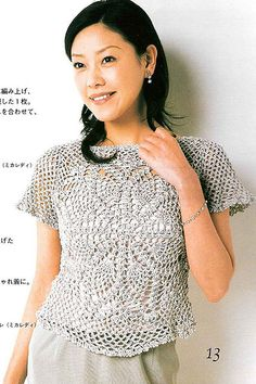 Crochet Shirt Blouse Patterns 2