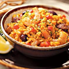 Paella.  Never had it.  Want to try it.  Need to make it without shrimp (so hubby can eat it, too)... will it still be good?