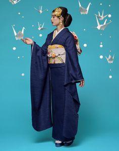 Kimono Japan, Japanese Kimono, Japanese Girl, Modern Kimono, Wedding Kimono, Kimono Design, Weird Fashion, Oriental Fashion, Yukata