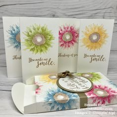 Stampin Up, Painted Harvest, Colorful Seasons, Love to Love Box Framelits, card set