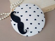 fascinator with mustache
