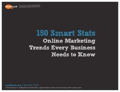 150 Smart Stats about Online Marketing by ReachLocal, via Slideshare