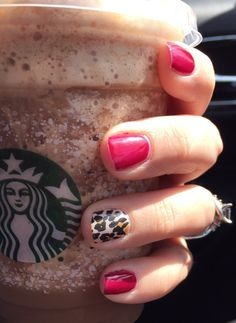 Jamberry trushine gel system in black cherry and natural leopard wrap. Get yours at https://tarawhorton.jamberry.com