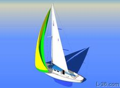 description of sailing off the wind and how to trim the jib sheet in a vertical direction specifically using what I am calling a twing Sailing Terms, Sailing Lessons, Sailing Ships, Boat Navigation, Mechanical Advantage, Weather Information, Let It Out, Wooden Boats, Boats