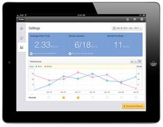 iPad App Dashboard by Shoaib Ahmad, via Behance #iPad #interaction #dashboard