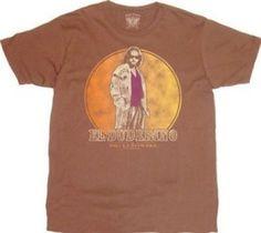 The Big Lebowski El Duderino Chestnut Brown T-shirt