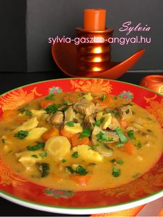 Sylvia Gasztro Angyal: Favágó leves Thai Red Curry, Ethnic Recipes, Food, Red Peppers, Essen, Meals, Yemek, Eten