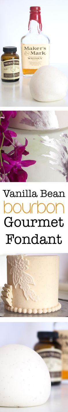 Make flavored fondant in your own kitchen! Start with this Vanilla Bean Bourbon Gourmet Fondant. You'll be hooked! Recipes from Kara's Couture Cakes.
