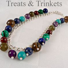 Sagittarius Sterling Silver Gemstone Bracelet by TreatsNTrinkets, £37.00