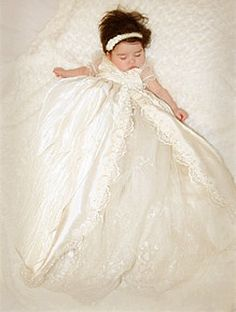 ALEXIS CHRISTENING DRESS, Blessing Dress, Baptism Dress, Christening Gown Custom Made. $500.00, via Etsy.