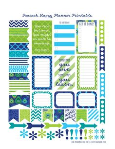 LifePlusPaper.com Happy Planner Free Printable Peacock 1