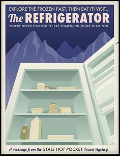 """""""Travel Posters for Lazy People"""" poster series by Caldwell Tanner"""