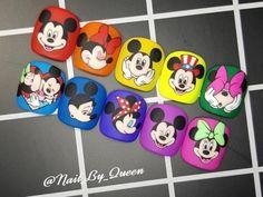 Mickey Mouse Drawings, Disney Drawings, Cute Drawings, Mickey Mouse Nails, Subtle Nails, Exotic Nails, Fire Nails, Bling Nails, Disney Cartoons