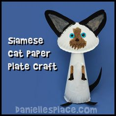 Cat Paper Plate Craft for Kids from www.daniellesplace.com