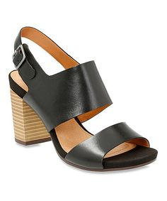 00becafd4e0b Clarks Black Banoy Tulia Leather Sandal