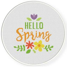 Charts Club Members Only: Hello Spring Decorative Cross Stitch Pattern