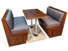 Bradd And Hall Dinette $1195 For Wood Booth $795 $995 For Set Of 4 Cushions
