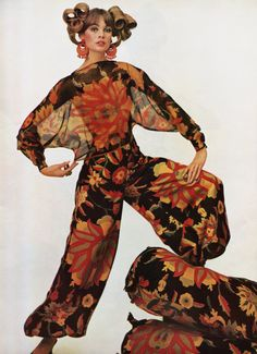 Jean Shrimpton photographed by David Bailey 1965 60s color photo print ad…