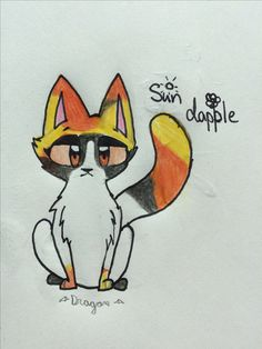 Sun dapple for Blossomtail. You can keep her if you want .Drawn by DragonWingz.