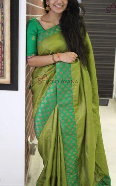 Shades Of Canopy Indian Silk Sarees, Tussar Silk Saree, Soft Silk Sarees, Chiffon Saree, Indian Beauty Saree, Saree Dress, Womens Western Wear Dresses, Saree Jewellery, Silk Saree Blouse Designs