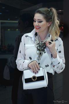 Como usar preto e branco: um look todo PB! - Dani Garlet.com.br