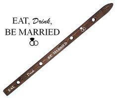 ShotSki Wedding Shot Ski. Eat Drink and Be Married. by ShotSkiShop
