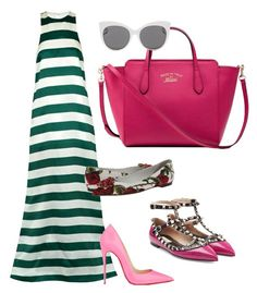 """""""Colored Stripes!!!"""" by la-harrell-styling-co on Polyvore featuring Paper London, Christian Louboutin, Valentino, Dolce&Gabbana, Gucci and Blanc & Eclare"""