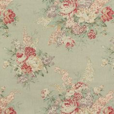 Ralph Lauren Angela Floral Sage Fabric Product ID: LCF18376F $63.80 per yard