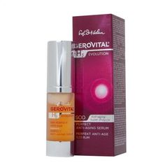 GEROVITAL H3 EVOLUTION, Perfect Anti-Aging Serum With Superoxide Dismutase (The Anti-Aging Super-Enzyme) 45+ by GEROVITAL H3 EVOLUTION. $39.95. Benefits: Highly Diminished Wrinkles, Firm and Moisturized Skin.. Especially Developed for the Treatment of Mature Skins.. Genuine Gerovital. Strong Product With Remarkable Anti-Aging Effects.. Immediate Anti-Aging Effects: Reduction of Wrinkles in a Short Period of Time, Due to the Action of the Gatuline Expression Extract and Liposome...