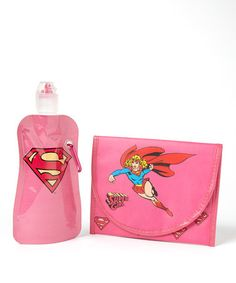 Take a look at this Supergirl 12-Oz. Foldable Bottle & Sandwich Bag by Shark Skinzz on #zulily today!