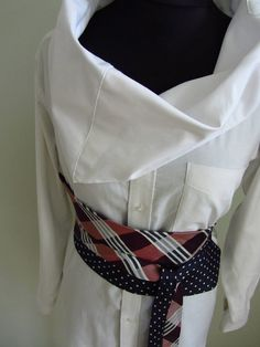 Upcycled Clothing  Long Sleeve Cowl Neck by GarageCoutureClothes, $58.00