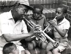 this. he would have been SUCH a great master teacher. #louisarmstrong #jazz