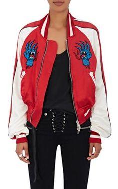 BEN TAVERNITI UNRAVEL PROJECT Distressed Satin Bomber Jacket. #bentavernitiunravelproject #cloth #jacket