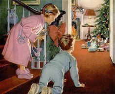 An old Christmas card - Bliss from Bygone Days