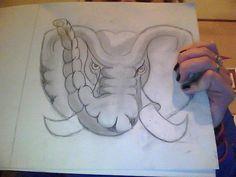 alabama elephant #bigal #alabama #bama #elephant #drawing #art Alabama Elephant, Drawing Art, My Drawings, Cartoon, Painting, Painting Art, Paintings, Cartoons, Painted Canvas