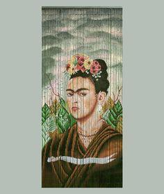 Frida Kahlo Bamboo Curtain