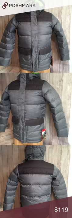 North Face Boy's B Harlan Down Parka Gry/Hthr XL North Face Boy's down parka Youth Outdoor size Boy's XL.  Please see pics for mfg sizing chart and complete product tag information. The North Face Jackets & Coats Puffers