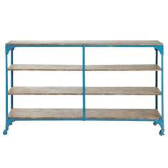 259,00 € Doppelkonsole Wandtisch im Industriestil blau BROOKLYN