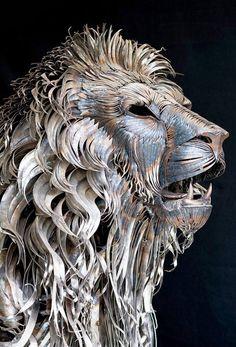 Metal Lion Sculpture By Selcukk
