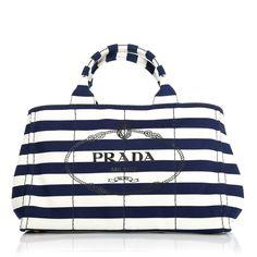 Travel wtih style: Prada Canapa Stampata Navy Dis Stripe www.fashionette.de