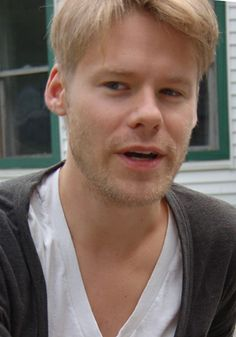 A more serious Randy Harrison, talking about playwright Samuel Beckett.
