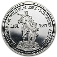 1991 CH Switzerland 1 oz Platinum Shooting Thaler BU/Proof 1 OZ Brilliant Uncirculated ** Read more reviews of the product by visiting the link on the image.