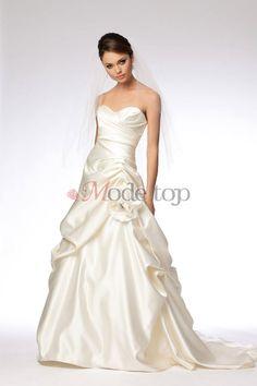 großes Bild 1 Normale Taille sexy Modern Brautkleid mit Schleier mit Blume