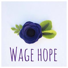 Purple Felt Flower Headband or Hair Clip / Pancreatic Cancer Fundraiser/ Wage Hope / Charity