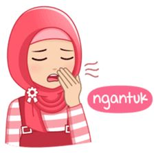 This hijab girl is beautiful, cute, nice, friendly and happy Emoji People, Simple Apartment Decor, Hijab Cartoon, Islamic Girl, Happy We, Self Reminder, Chat App, Muslim Girls, Line Sticker