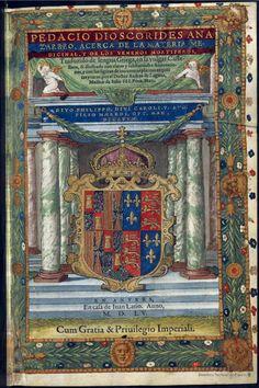 Pedacio Dioscorides anazarbeo, Acerca de la materia medicinal y de los venenos mortiferos. Dioscórides — Libro — 1555