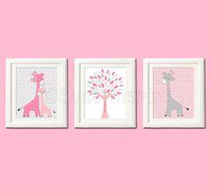 Pink and grey nursery art Print 8x10 Kids Room by SugarInspire, $14.95