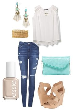 """""""Untitled #427"""" by kmysoccer on Polyvore featuring Topshop, Violeta by Mango, BaubleBar, Stella & Dot, HOBO, Jessica Simpson and Essie"""